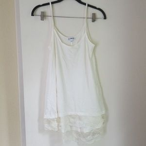 Off white/ cream Express tank top m